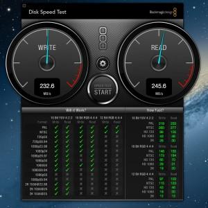 Velocidad de lectura y escritura de SSD en iMac