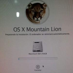 Instalando Mountain Lion en SSD