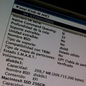 Estado TRIM en Mac