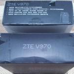 Caja de ZTE V970 por un lado