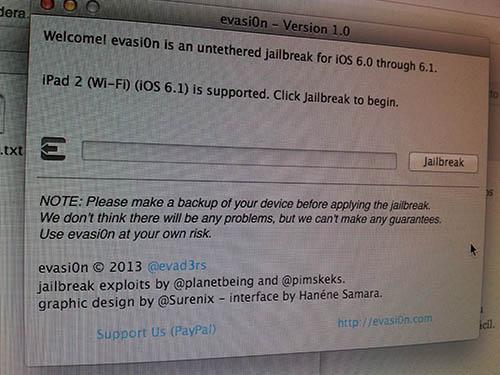 Jailbreak 6.1 en iPad 2