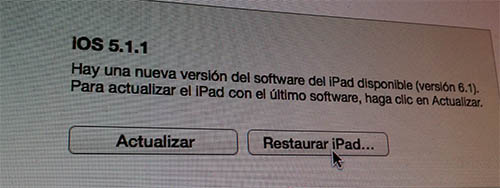 Restaurar iOS 6.1