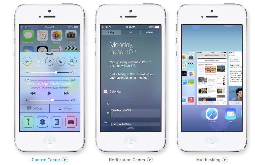 Nuevas funcionalidades de iOS7