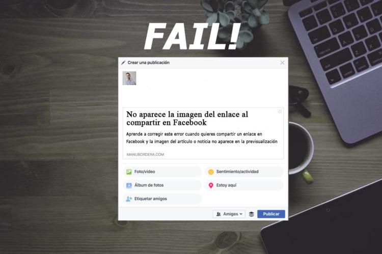 Solución para cuando no sale la imagen en Facebook