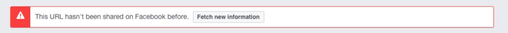 Página no cacheada en Facebook