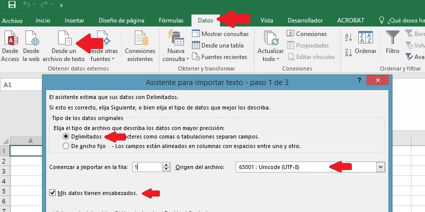 CSV de Linkedin con los contactos