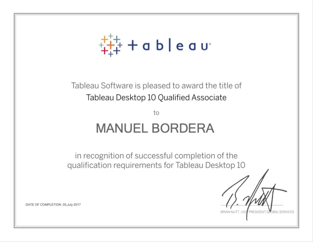 certificacion tableau qualified associate