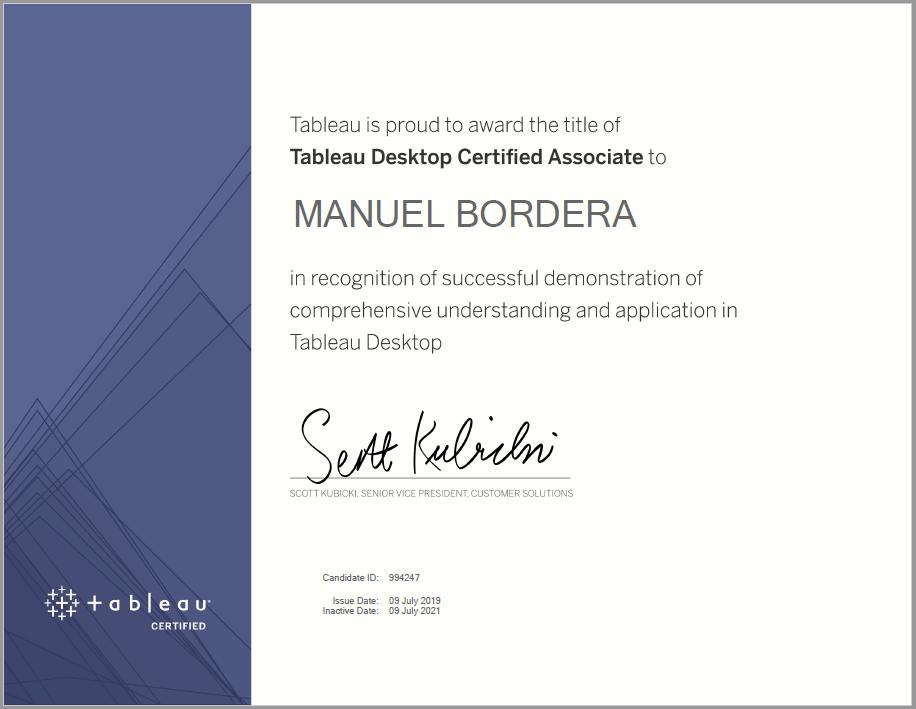 Certificación de Tableau